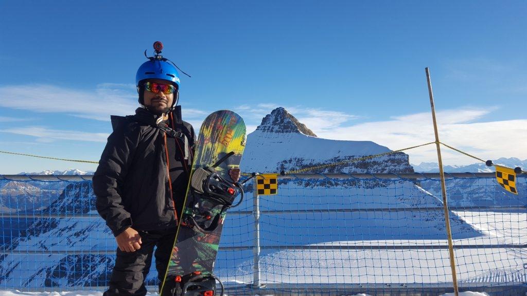 Lukman Chowdhury snowboard